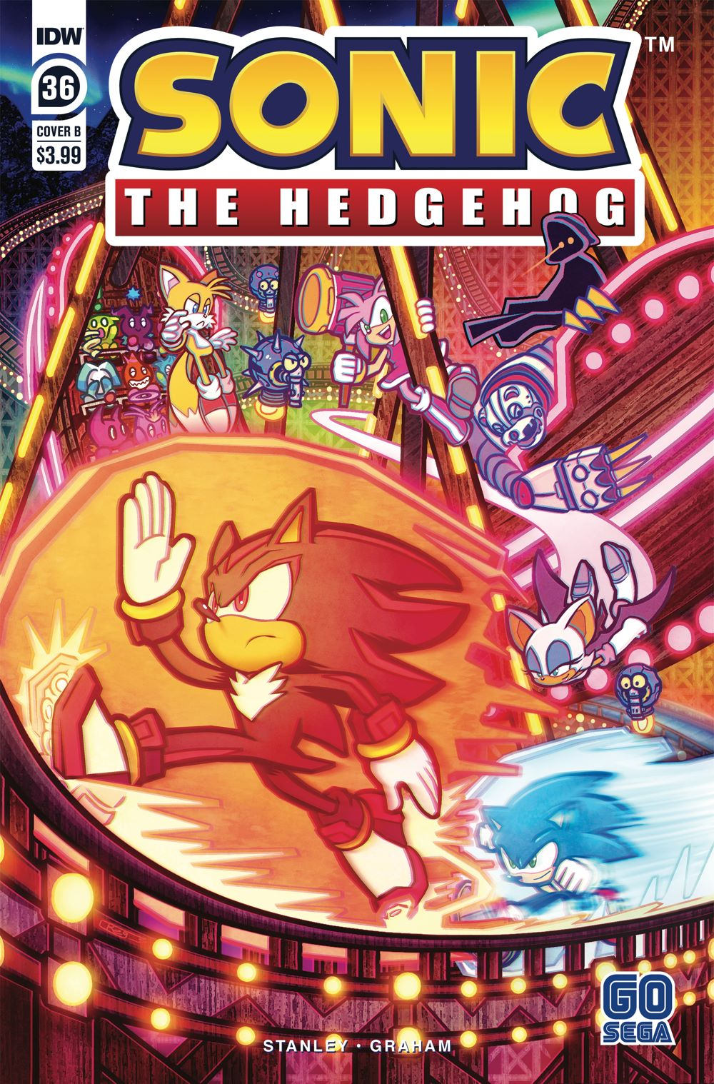 STH36_cvrB ComicList Previews: SONIC THE HEDGEHOG #36