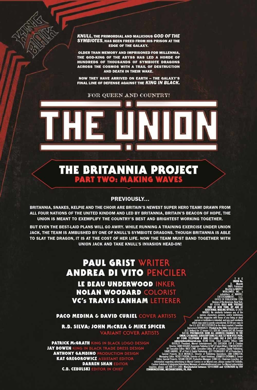 UNION2020002_Preview-2 ComicList Previews: THE UNION #2 (OF 5)
