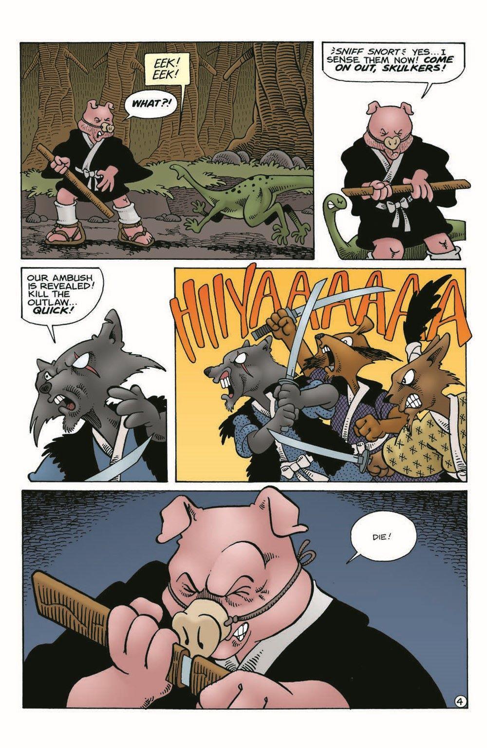 Usagi-WR03_pr-6 ComicList Previews: USAGI YOJIMBO WANDERER'S ROAD #3 (OF 6)