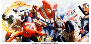 Wizard-42-Marvel-Heroes-Art-by-Alex-Ross-300x146 Alex Ross Painted Covers: Museum-Quality Fine Art