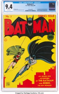 World-Record-Batman-1-DC-1940-Heritage-Auctions-FRONT-189x300 GOCOLLECT EXCLUSIVE:  MEET THE PROUD SELLER AND FORMER OWNER OF THE RECORD BREAKING BATMAN #1 (1940) CGC 9.4!