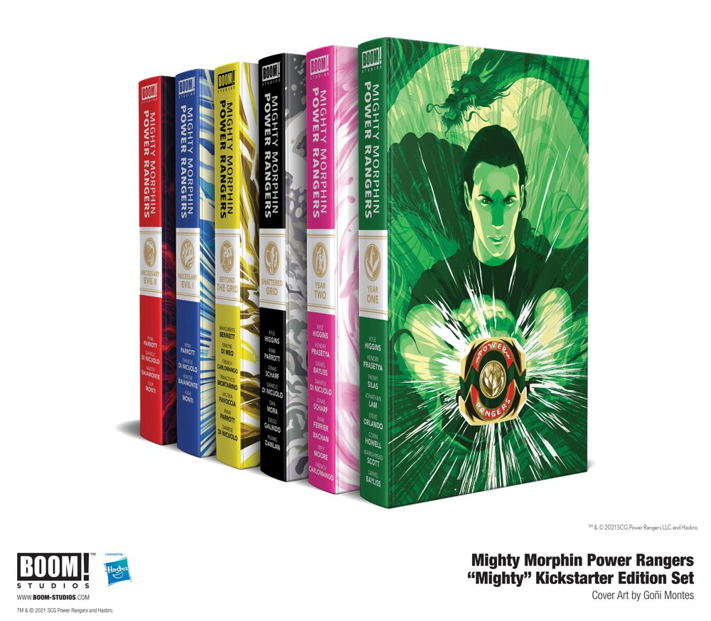 d77a578c-3820-4407-b712-e9a8bc3049bc BOOM! offers premium MIGHTY MORPHIN POWER RANGERS hardcovers on Kickstarter