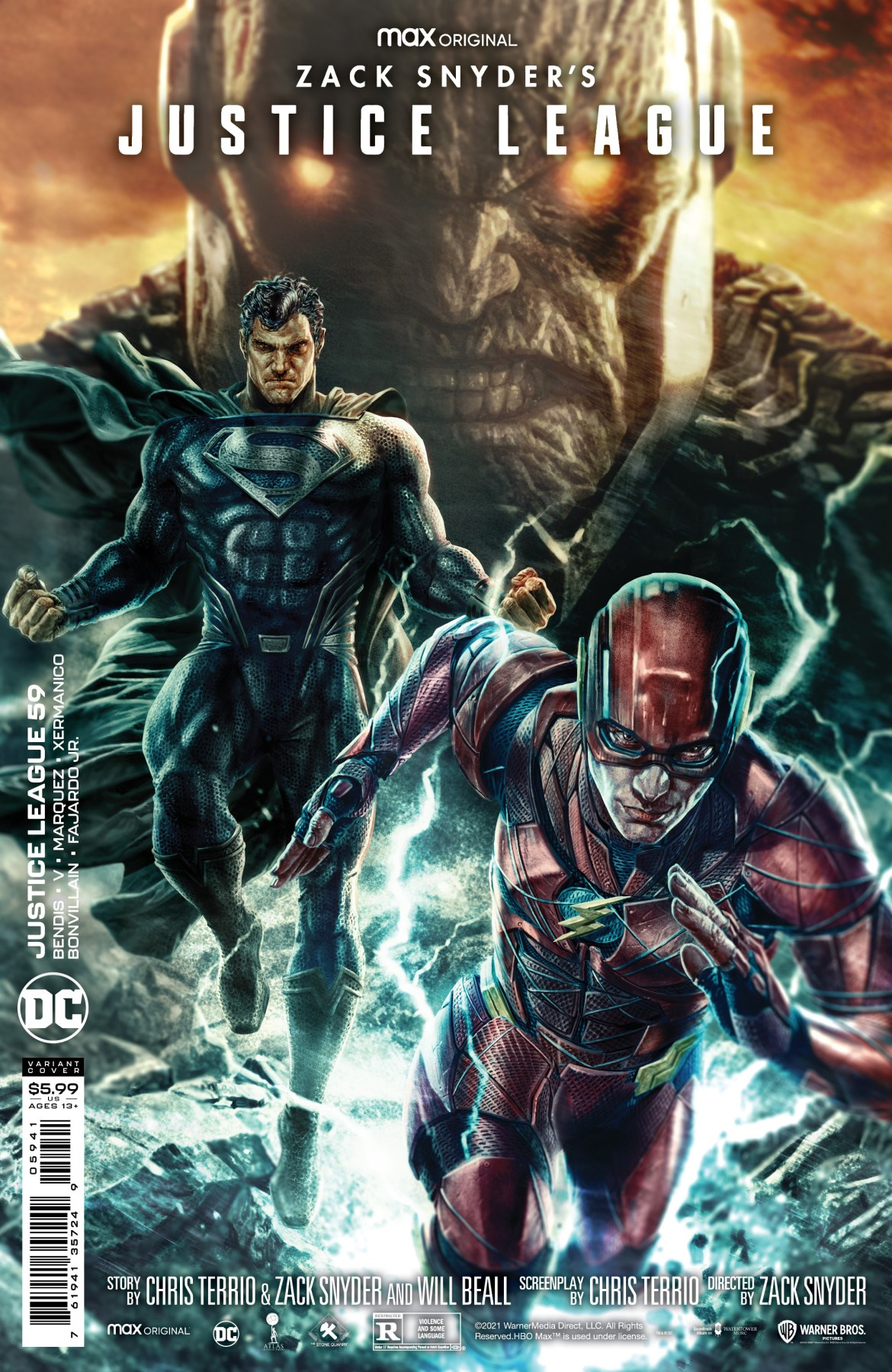 0121DC835 JUSTICE LEAGUE #95 to feature Snyder Cut variant covers