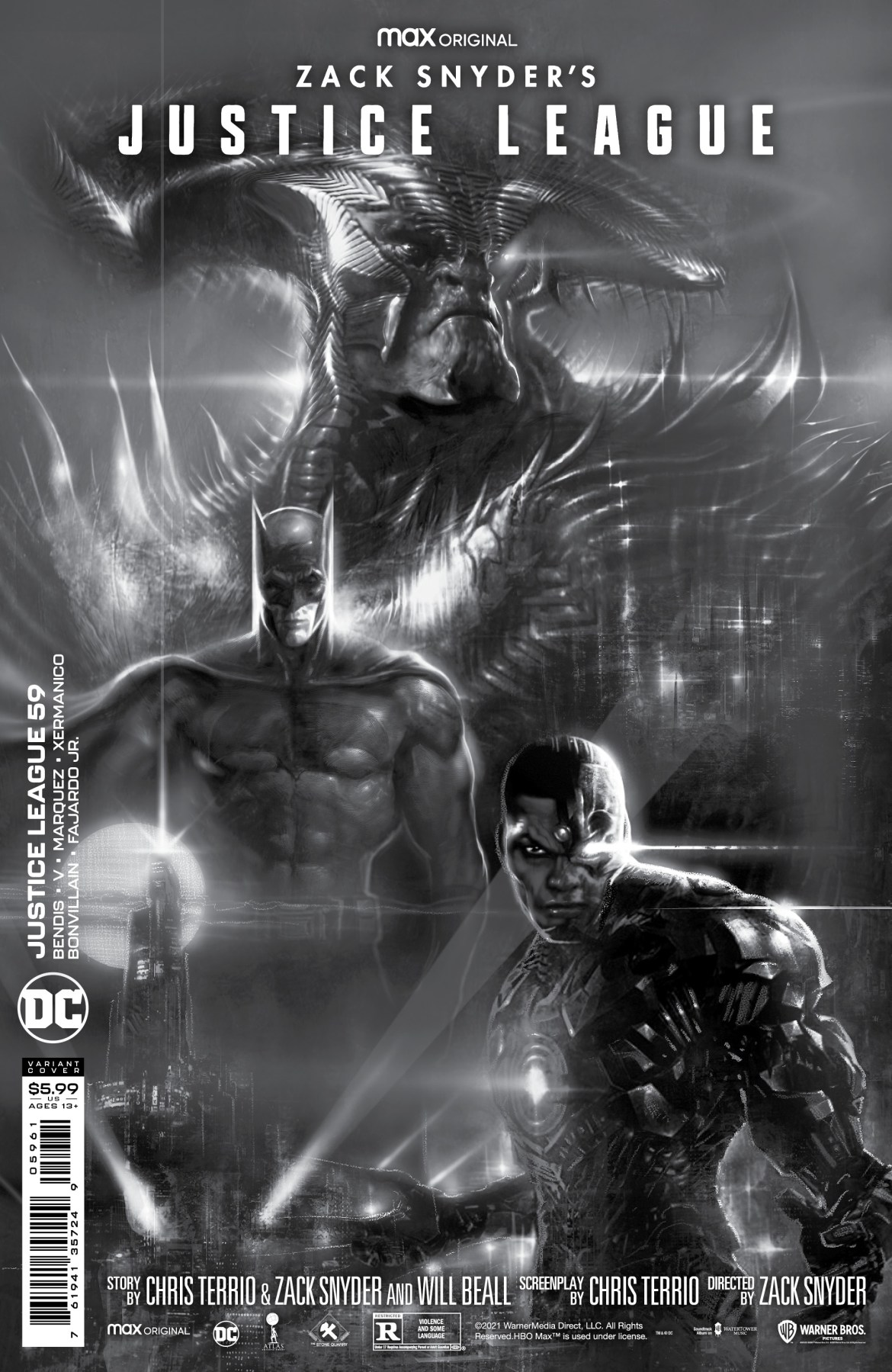 0121DC837 JUSTICE LEAGUE #95 to feature Snyder Cut variant covers