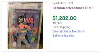 BA12-CBCS-300x158 Recent Sales: 1 Comic, 2 Auctions