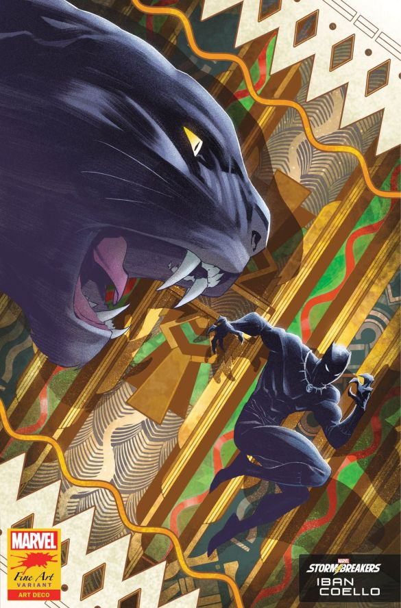 BLAP25_FINEART_COELLO Marvel's Stormbreakers to create BLACK PANTHER Fine Art variants