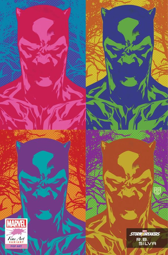 BLAP25_FINEART_SILVA Marvel's Stormbreakers to create BLACK PANTHER Fine Art variants