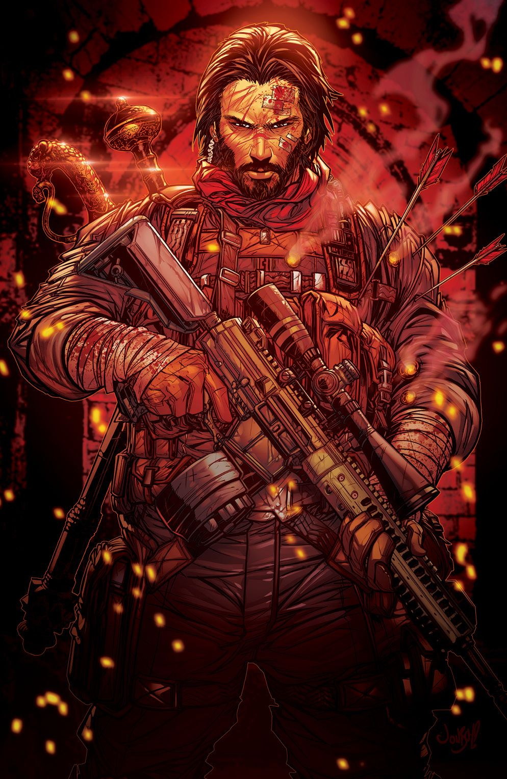 BRZRKR_001_Cover_BC_Variant_001_LOW ComicList Previews: BRZRKR #1 (Of 12)