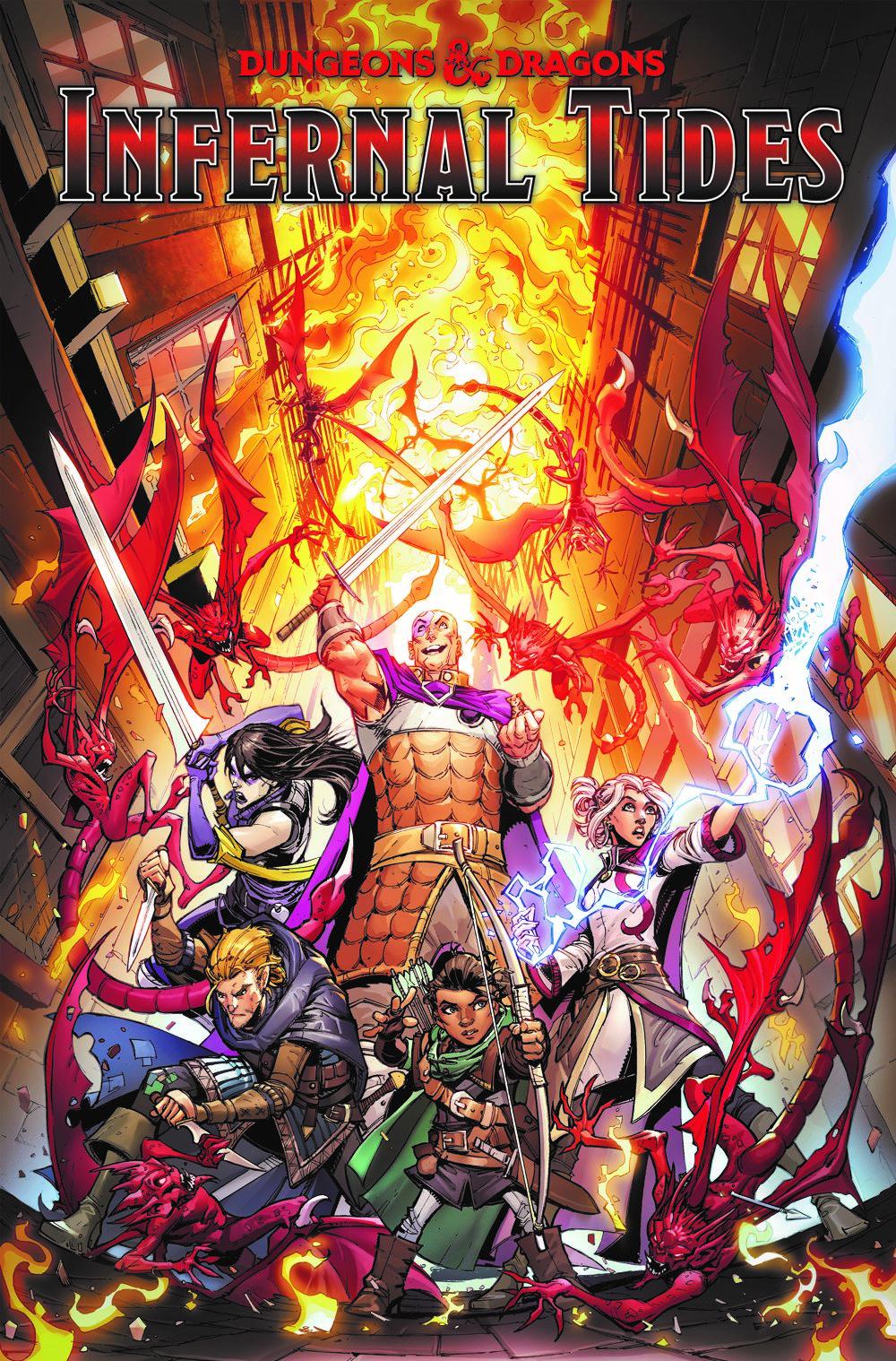 DnD_InfernalTides_TPB-cover ComicList Previews: DUNGEONS AND DRAGONS INFERNAL TIDES TP