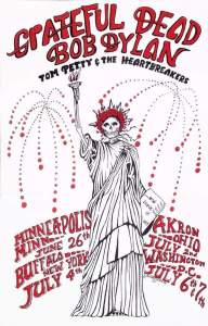Grateful-dead-and-bob-dylan-july-4th-192x300 Bob Dylan Co-Headlining Concert Posters Through The Years - Part 1