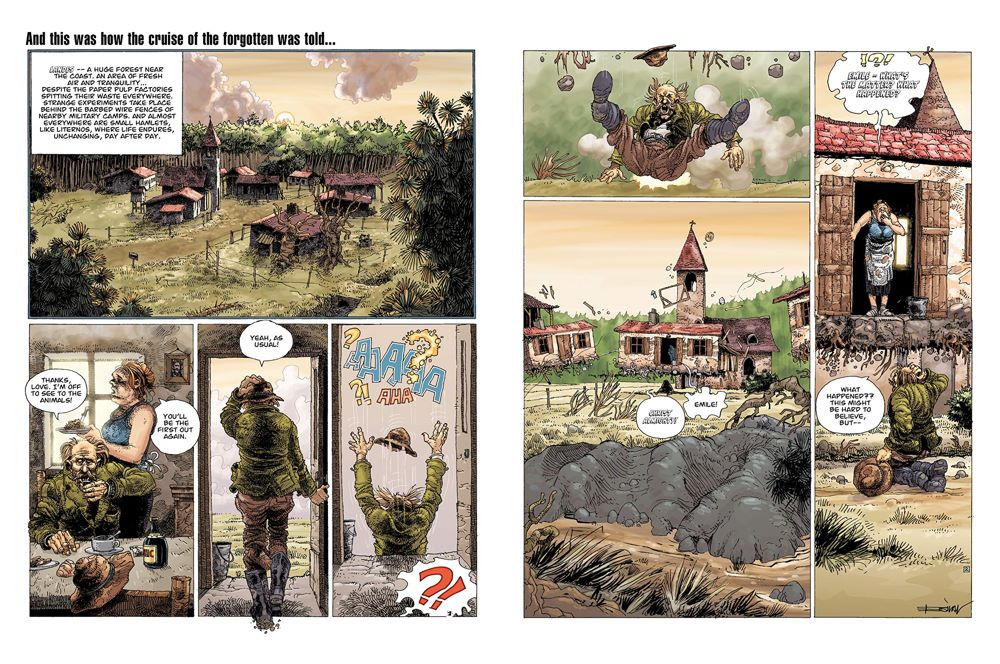 Legends-spread-2 ComicList Previews: ENKI BILAL LIBRARY VOLUME 1 LEGENDS OF TODAY HC
