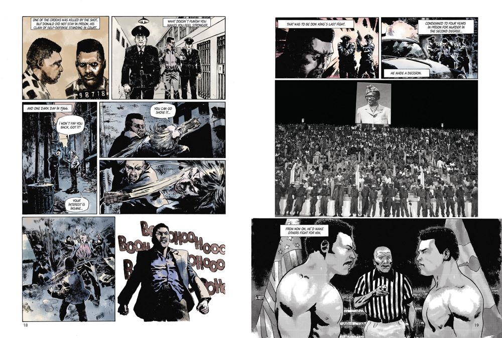 MuhammadAli_spreads_2 ComicList Previews: MUHAMMAD ALI KINSHASA 1974 HC