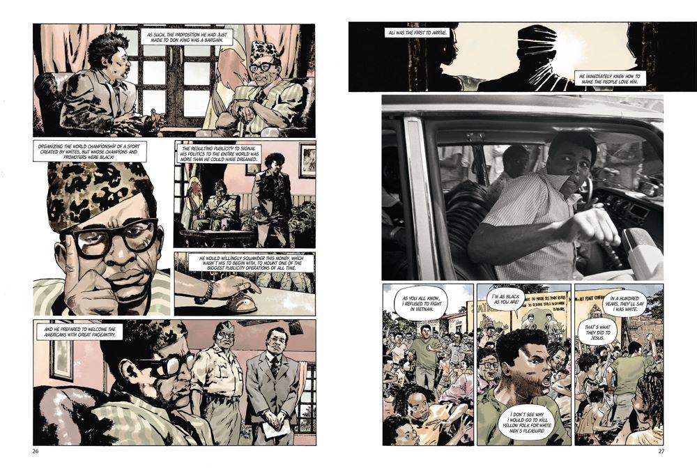 MuhammadAli_spreads_4 ComicList Previews: MUHAMMAD ALI KINSHASA 1974 HC