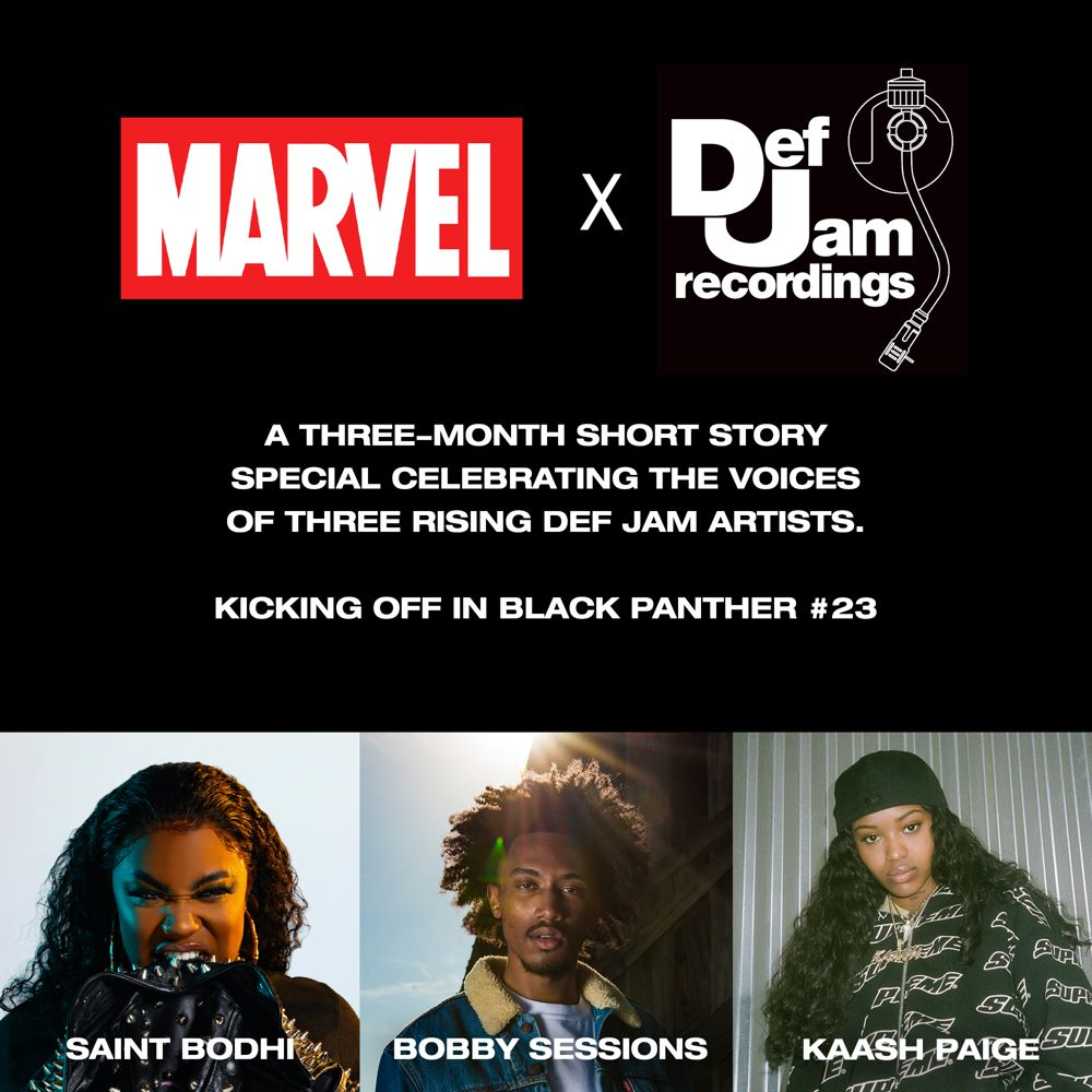 SQ-Marvel-x-DJF Def Jam Recordings artists to create Black Panther short stories