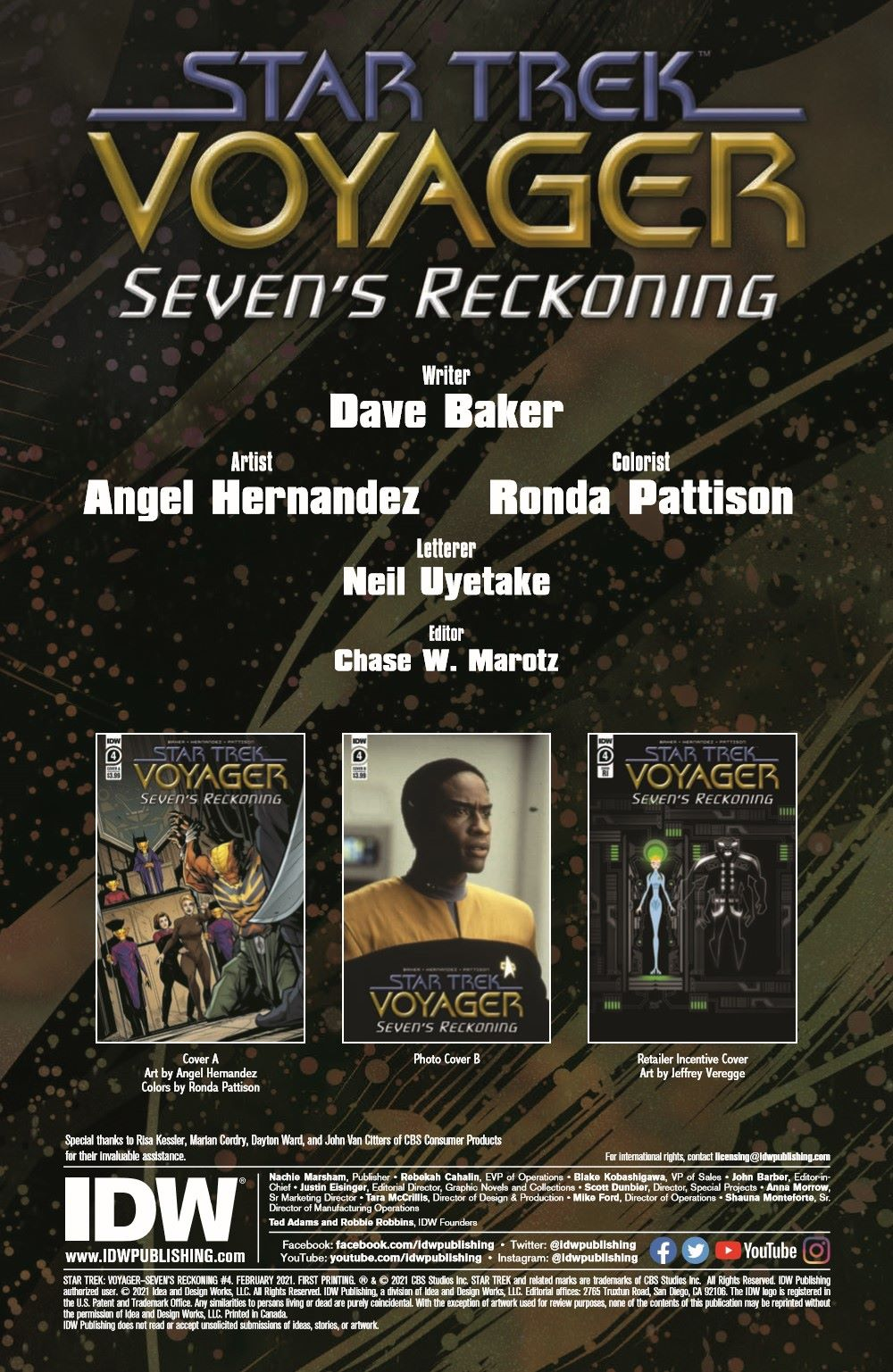 ST_Voyager_SR04-pr-2 ComicList Previews: STAR TREK VOYAGER SEVEN'S RECKONING #4 (OF 4)