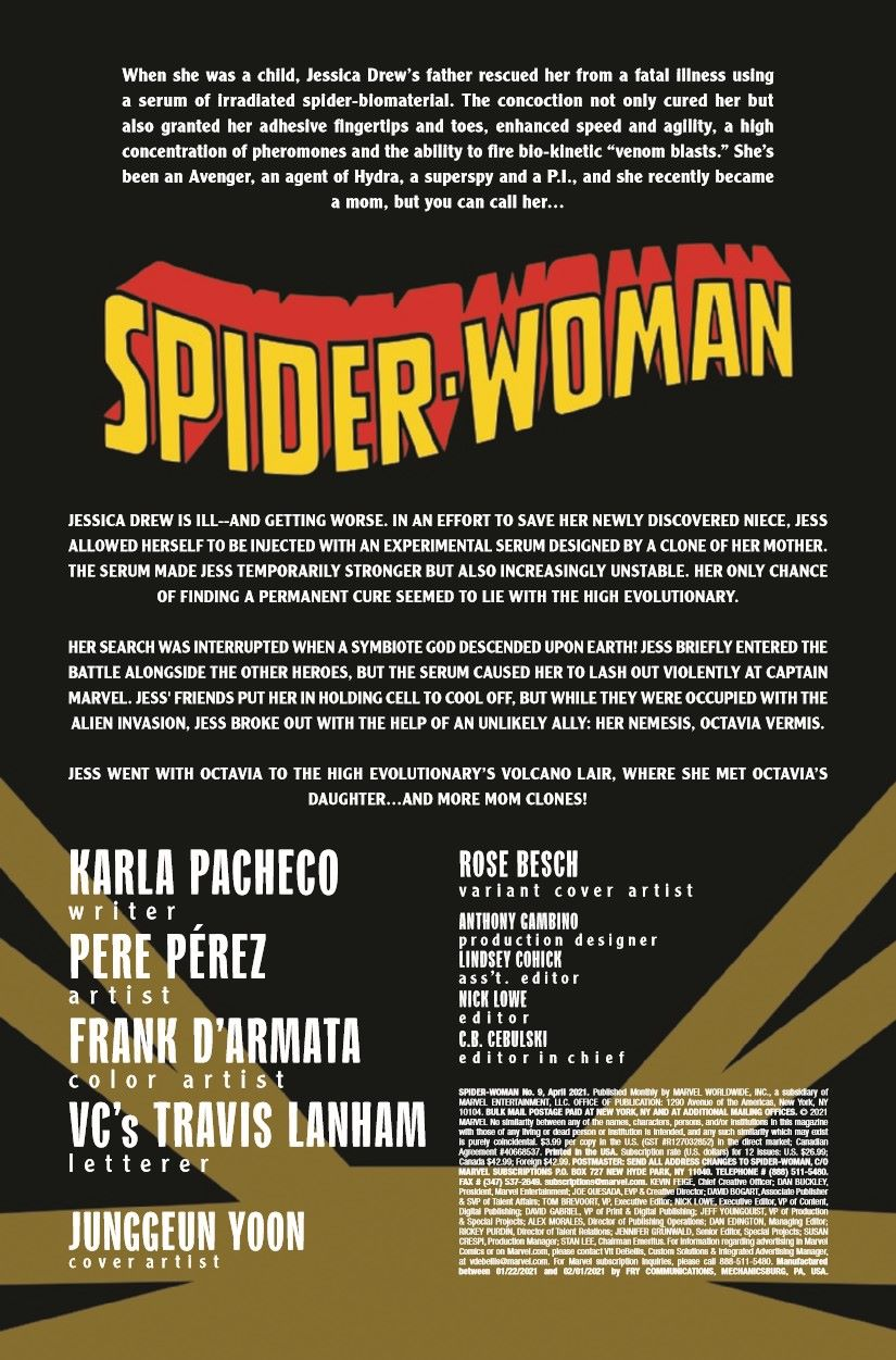 SWOMAN2020009_Preview-2 ComicList Previews: SPIDER-WOMAN #9