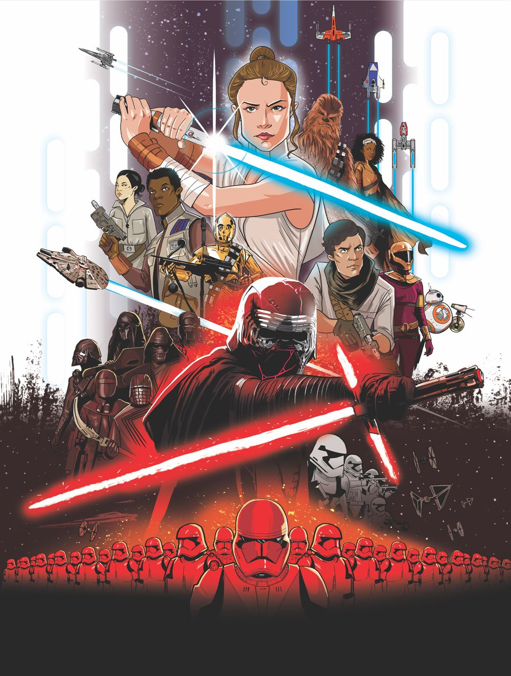 SW_RiseOfSkywalker_Cover_V3 ComicList Previews: STAR WARS THE RISE OF SKYWALKER GN