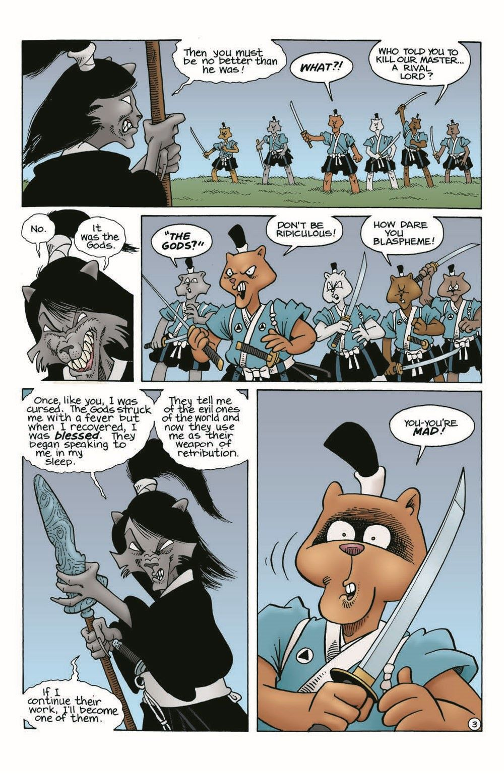 Usagi-WR04_pr-5 ComicList Previews: USAGI YOJIMBO WANDERER'S ROAD #4 (OF 6)