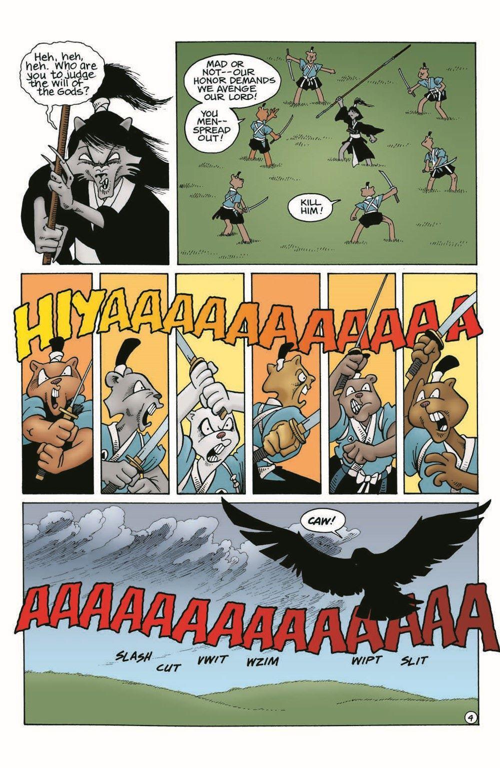 Usagi-WR04_pr-6 ComicList Previews: USAGI YOJIMBO WANDERER'S ROAD #4 (OF 6)