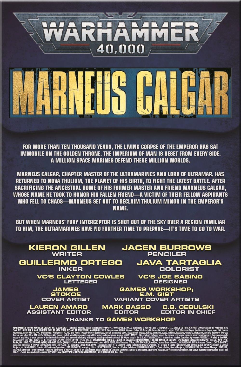 WARHAMMERMC2020005_Preview-2 ComicList Previews: WARHAMMER 40000 MARNEUS CALGAR #5 (OF 5)