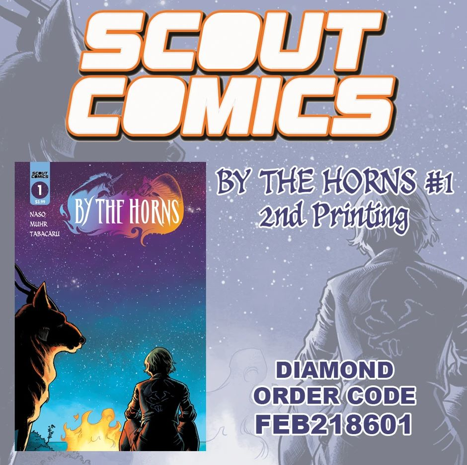 BTH_2ndPrint_Promo_940x BY THE HORNS #1 receives a second printing