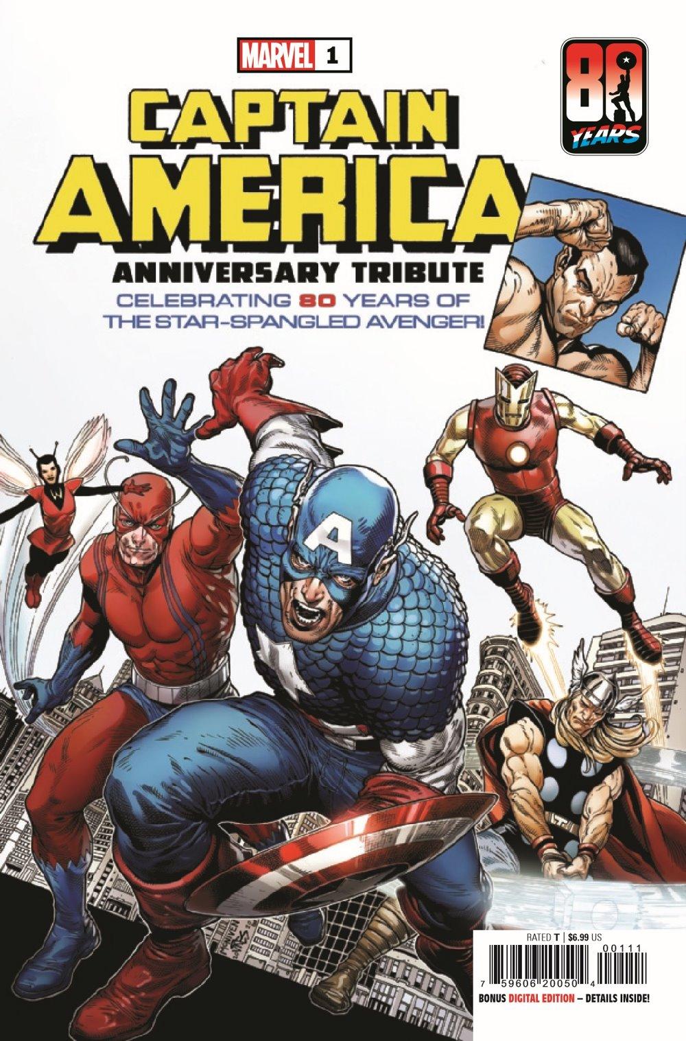 CAPAANNIVERSARY2021001_Preview-1 ComicList Previews: CAPTAIN AMERICA ANNIVERSARY TRIBUTE #1