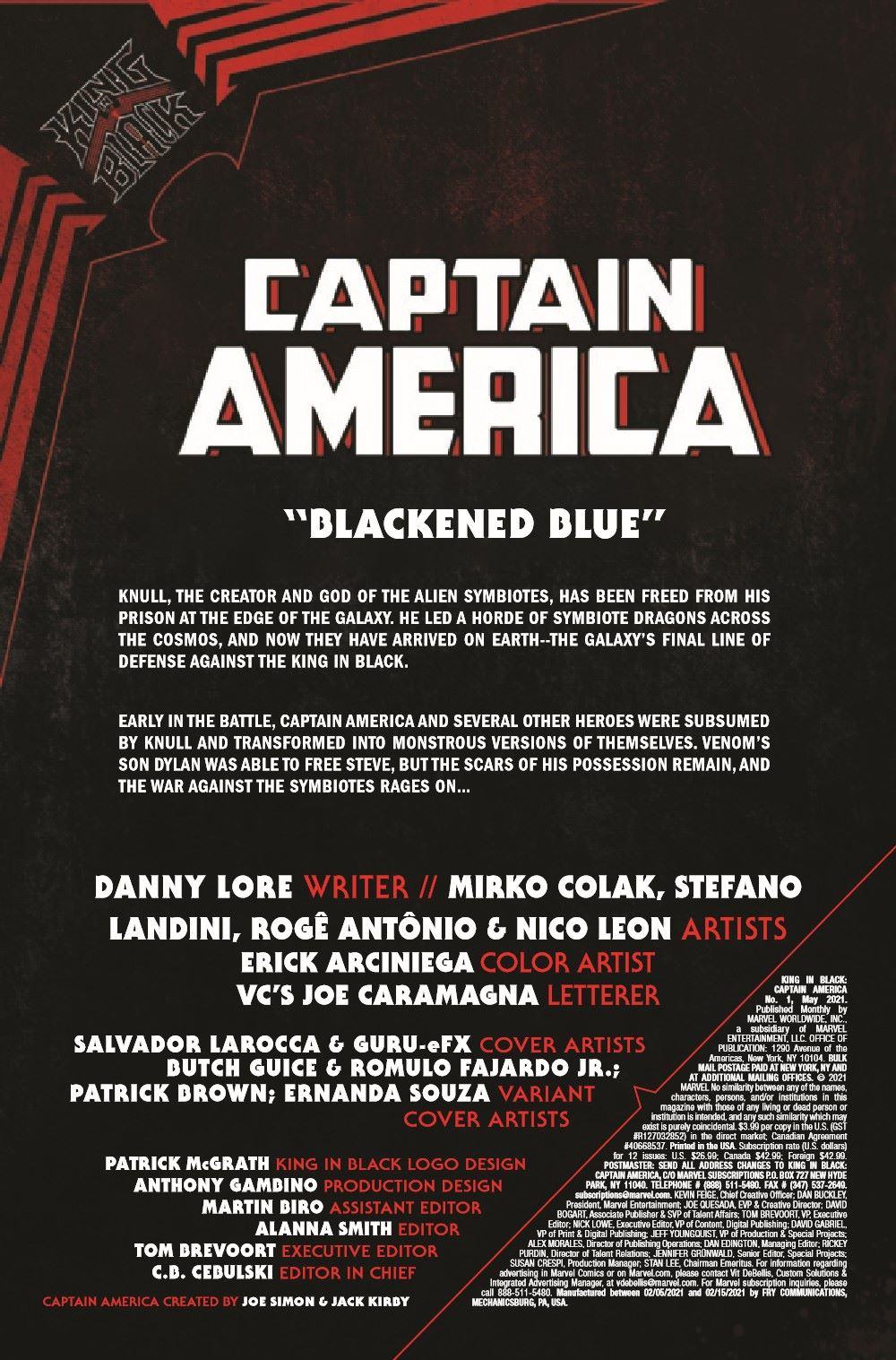 CAPAKIB2021001_Preview-2 ComicList Previews: KING IN BLACK CAPTAIN AMERICA #1