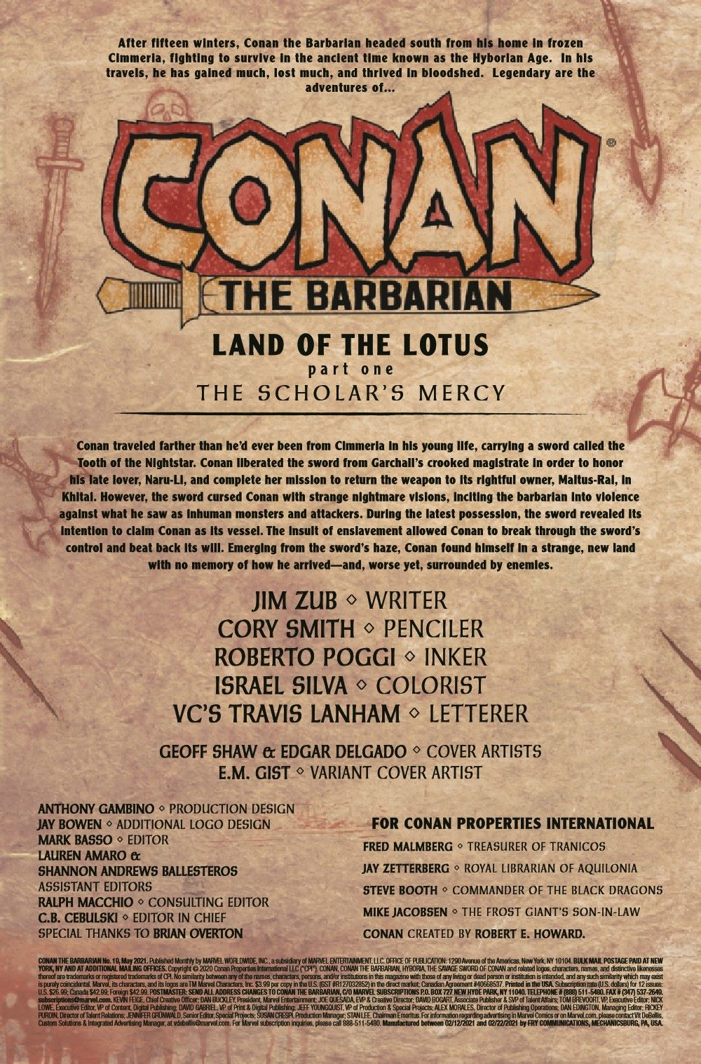 CONANBARB2019019_Preview-2 ComicList Previews: CONAN THE BARBARIAN #19