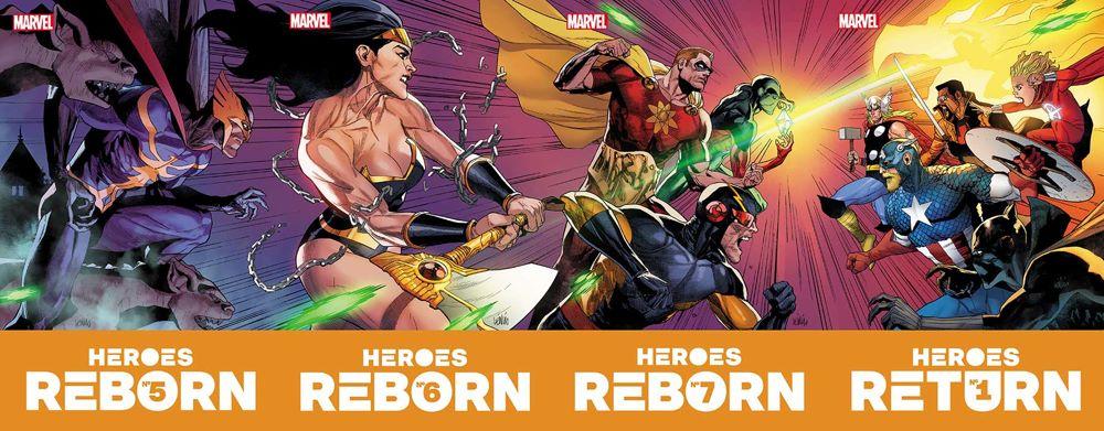 Connecting_Covers HEROES REBORN inevitably leads to HEROES RETURN