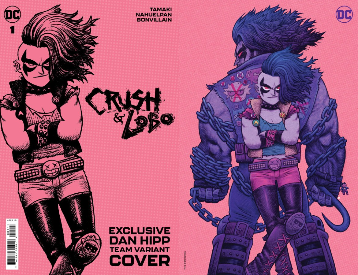 Crush_and_Lobo_Cv1_TEAM_var_Dan_Hipp_60496f8e3c2697.96487553 DC PRIDE anthology to feature nine Pride themed variant covers