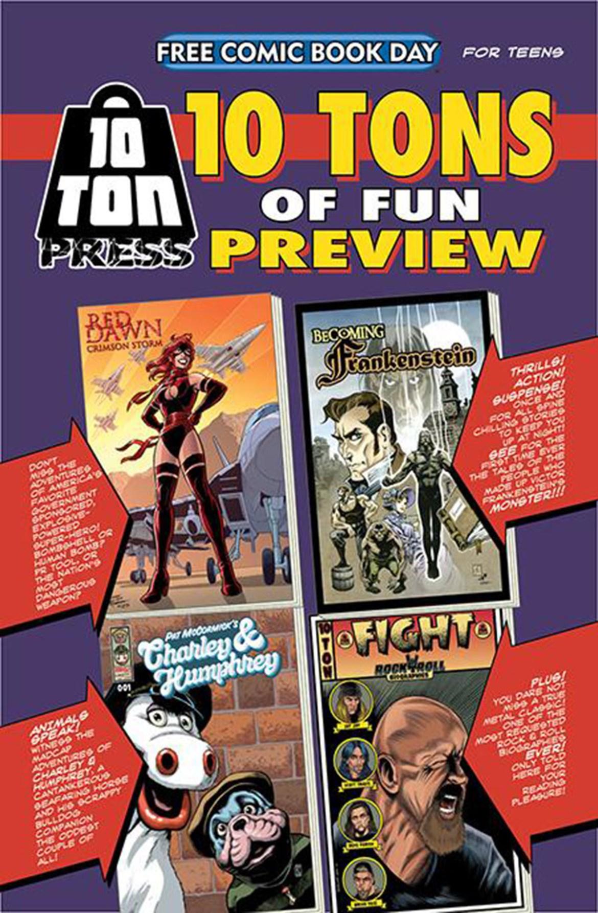 FCBD21_SILVER_10-Ton-Press_10-Ton-of-FUN Complete Free Comic Book Day 2021 comic book line-up announced