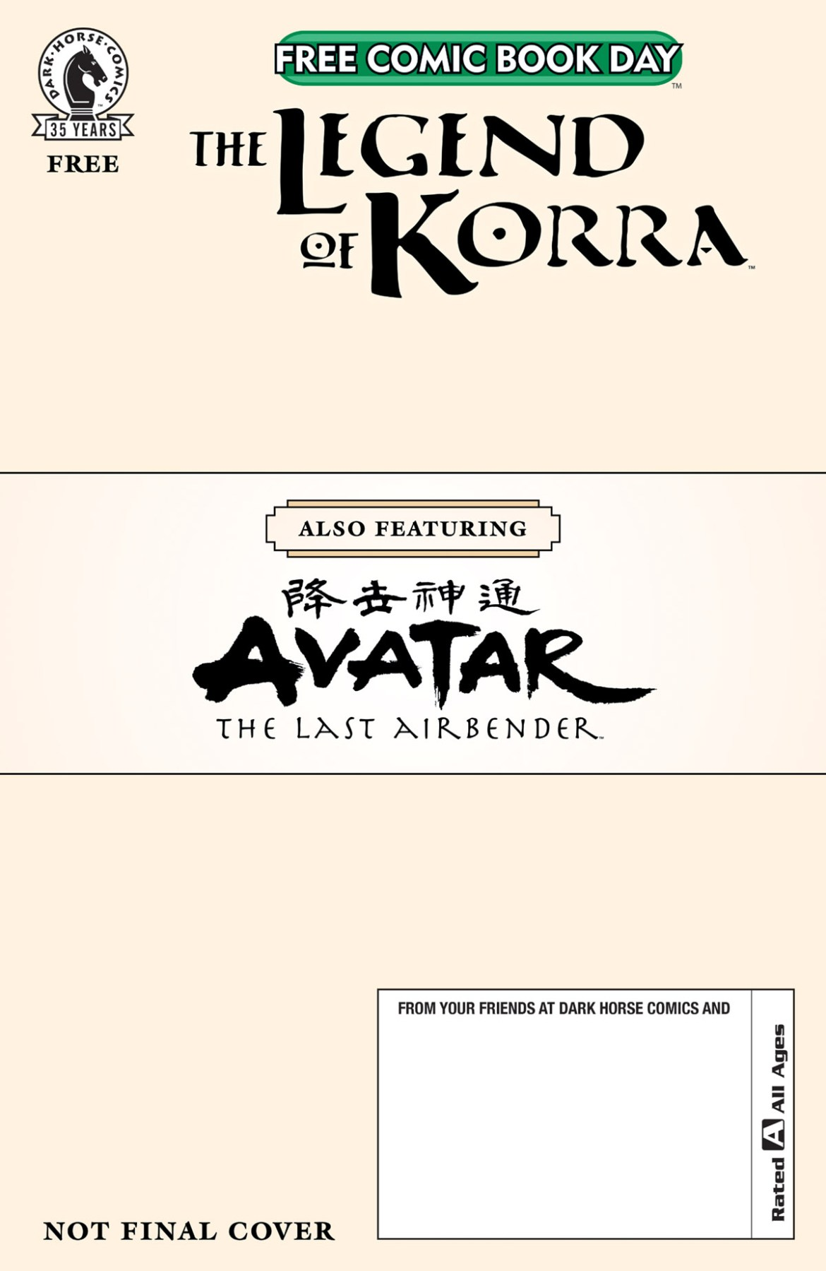 FCBD21_SILVER_Dark-Horse_Korra-–-Avatar-Abend Dark Horse FCBD 2021 Silver book to feature Avatar and Korra