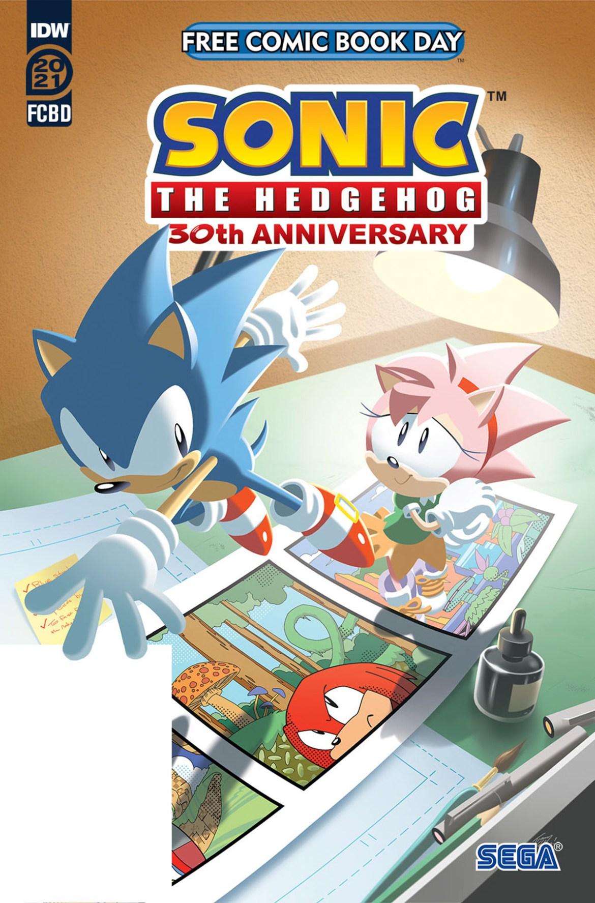 FCBD21_SILVER_IDW_Sonic-30th-Anniversary Complete Free Comic Book Day 2021 comic book line-up announced