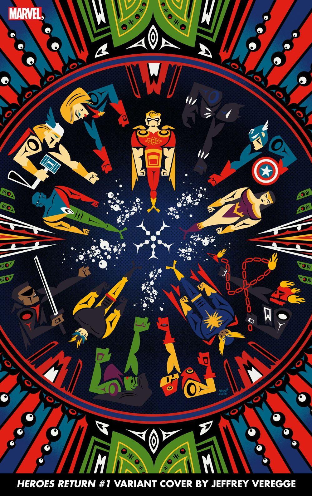 HEROESRETURN2021001_Veregge Marvel unleashes the final Jeffrey Veregge HEROES REBORN variant covers