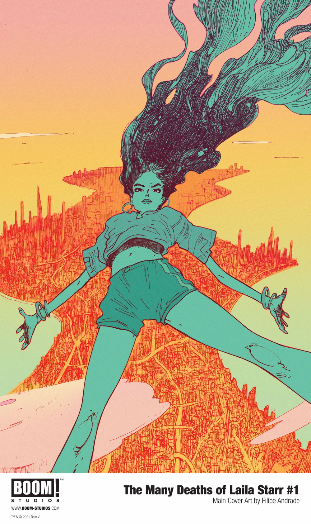 ManyDeathsLailaStarr_001_Cover_Main_PROMO-1 First Look at BOOM! Studios' THE MANY DEATHS OF LAILA STARR #1