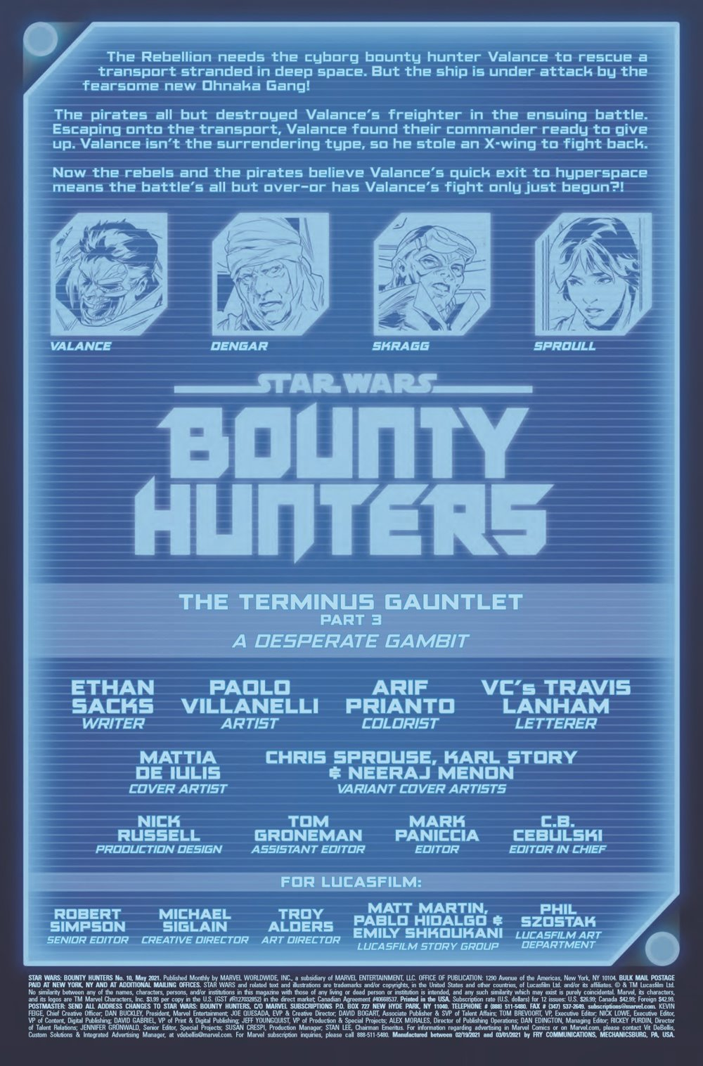STWBOUNTYHUNT2020010_Preview-2 ComicList Previews: STAR WARS BOUNTY HUNTERS #10