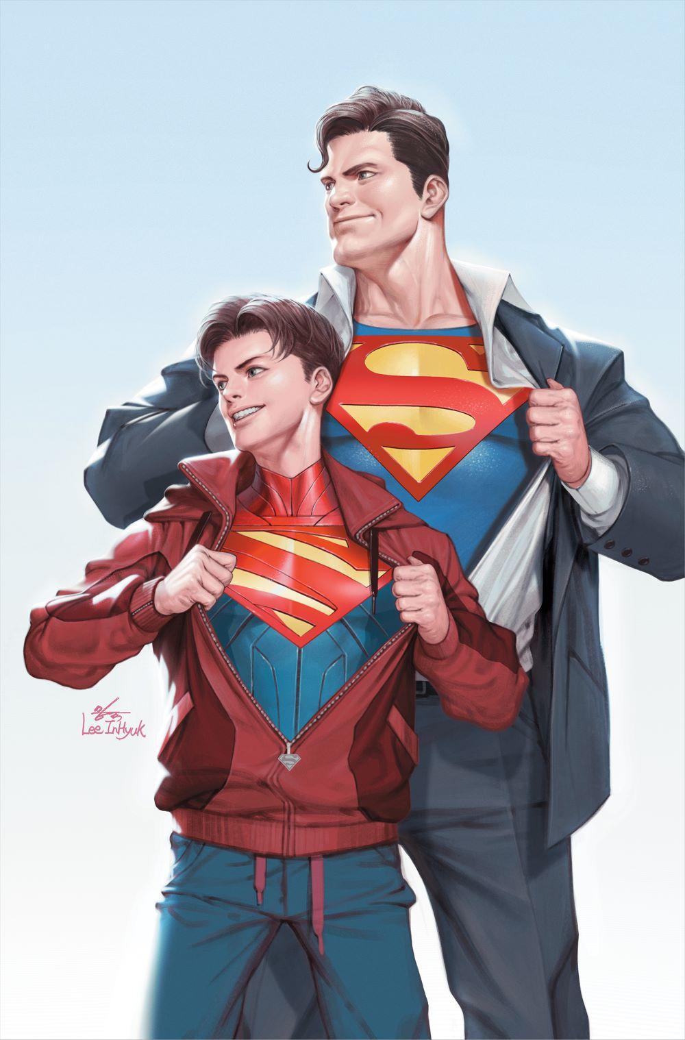 SUPERMAN_Cv32_var_NOTRADEDRESS DC Comics June 2021 Solicitations