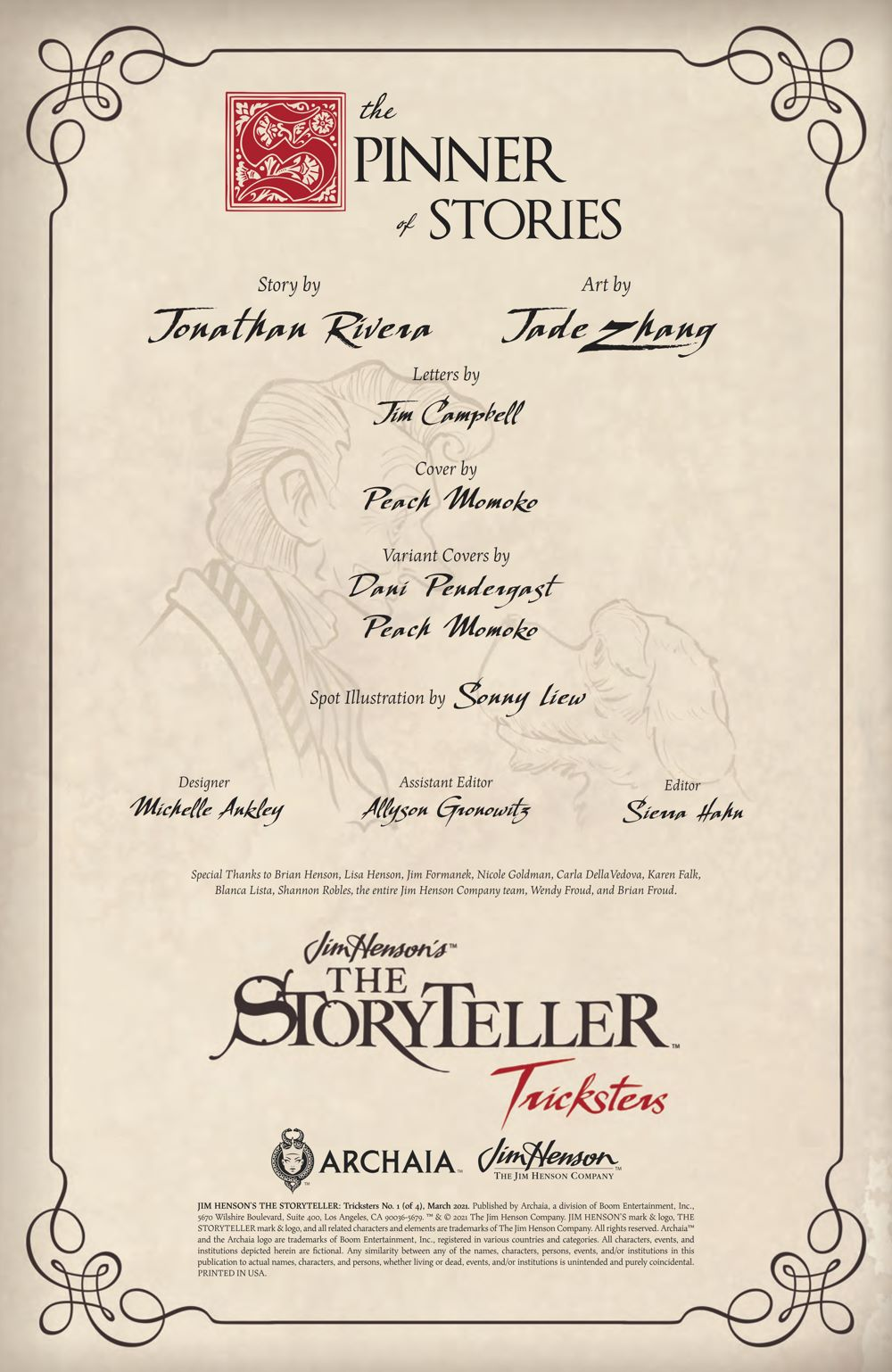 Storyteller_Tricksters_001_PRESS_2 ComicList Previews: JIM HENSON'S THE STORYTELLER TRICKSTERS #1 (OF 4)