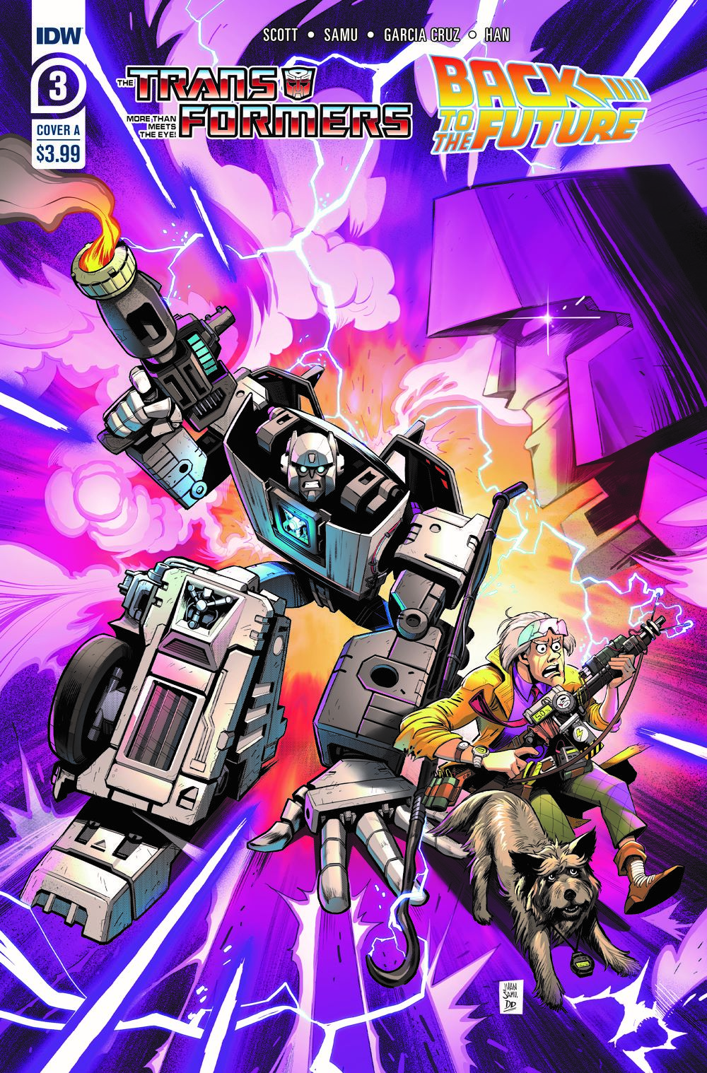 TF-BTTF03-coverA ComicList Previews: TRANSFORMERS BACK TO THE FUTURE #3 (OF 4)