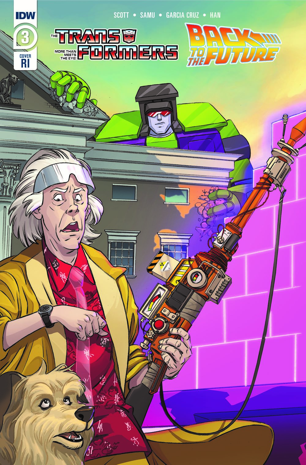 TF-BTTF03-coverRI ComicList Previews: TRANSFORMERS BACK TO THE FUTURE #3 (OF 4)