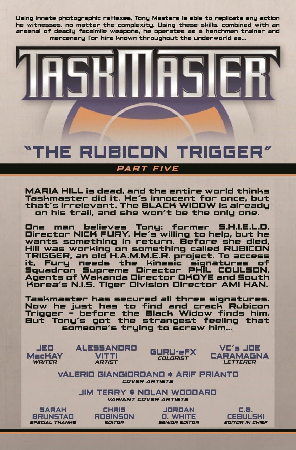 TMASTER2020005_Preview-2 ComicList Previews: TASKMASTER #5 (OF 5)