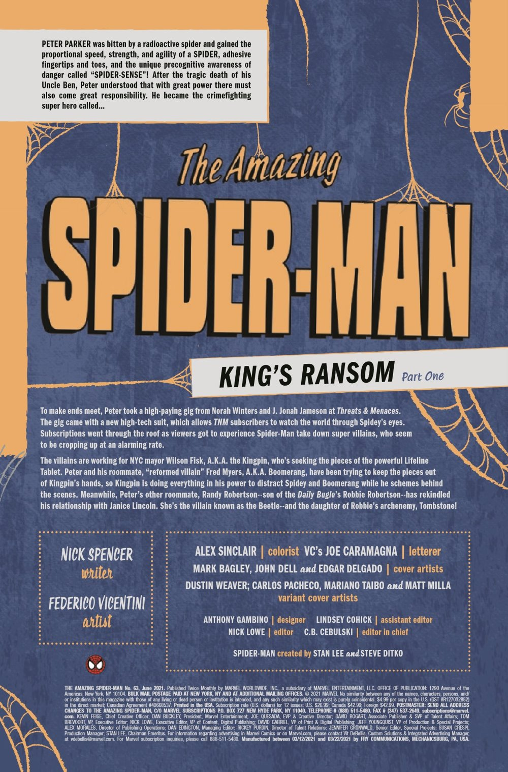 ASM2018063_Preview-2 ComicList Previews: THE AMAZING SPIDER-MAN #63