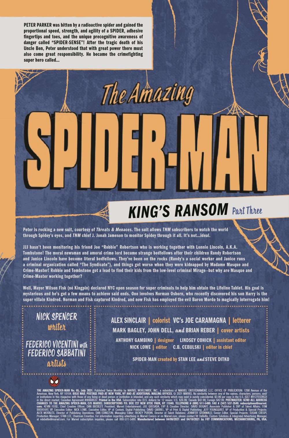 ASM2018065_Preview-2 ComicList Previews: THE AMAZING SPIDER-MAN #65