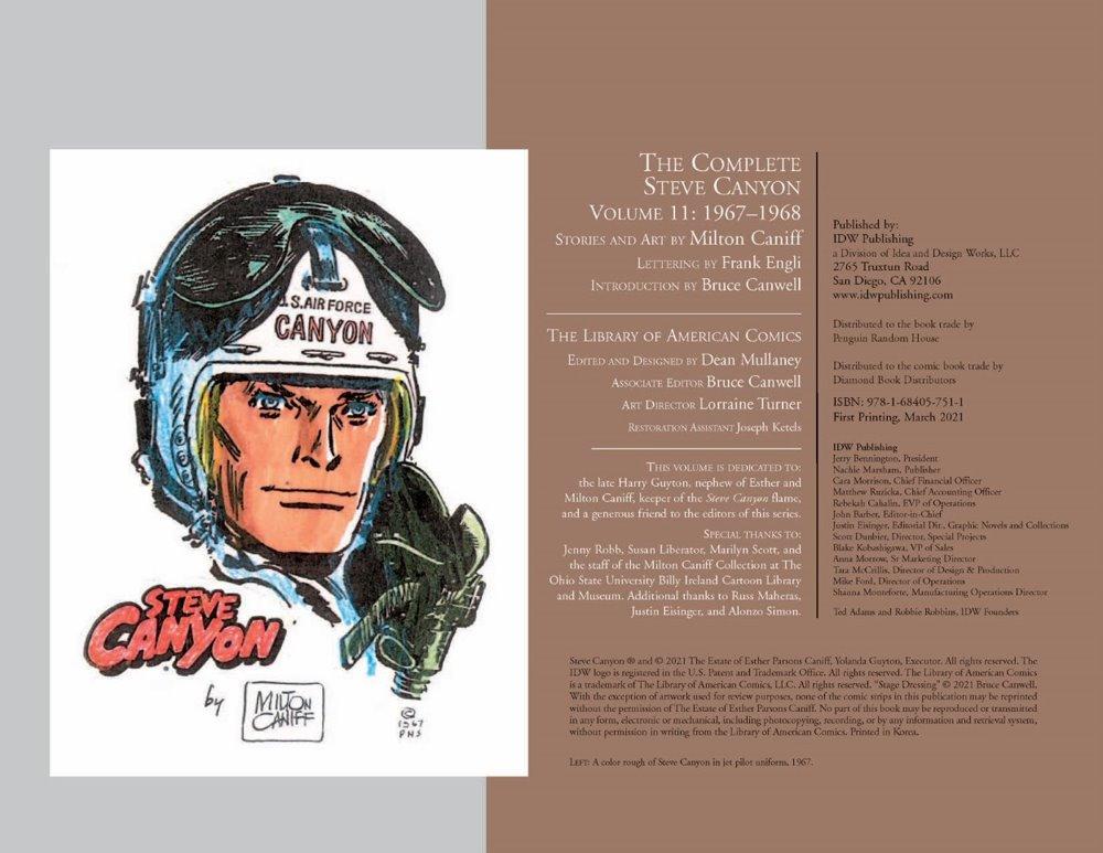 Canyon11_pr-2 ComicList Previews: STEVE CANYON VOLUME 11 1967-1968 HC
