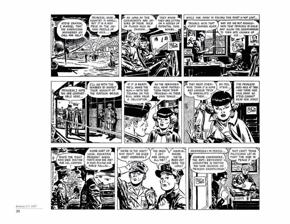 Canyon11_pr-5 ComicList Previews: STEVE CANYON VOLUME 11 1967-1968 HC