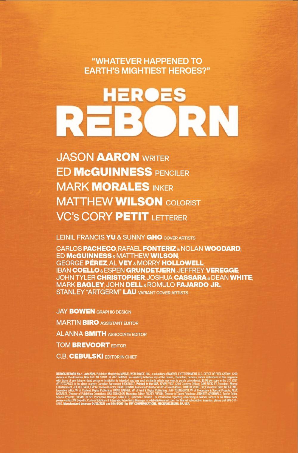 HEROESREBORN2021001_Preview-2 ComicList Previews: HEROES REBORN #1 (OF 7)