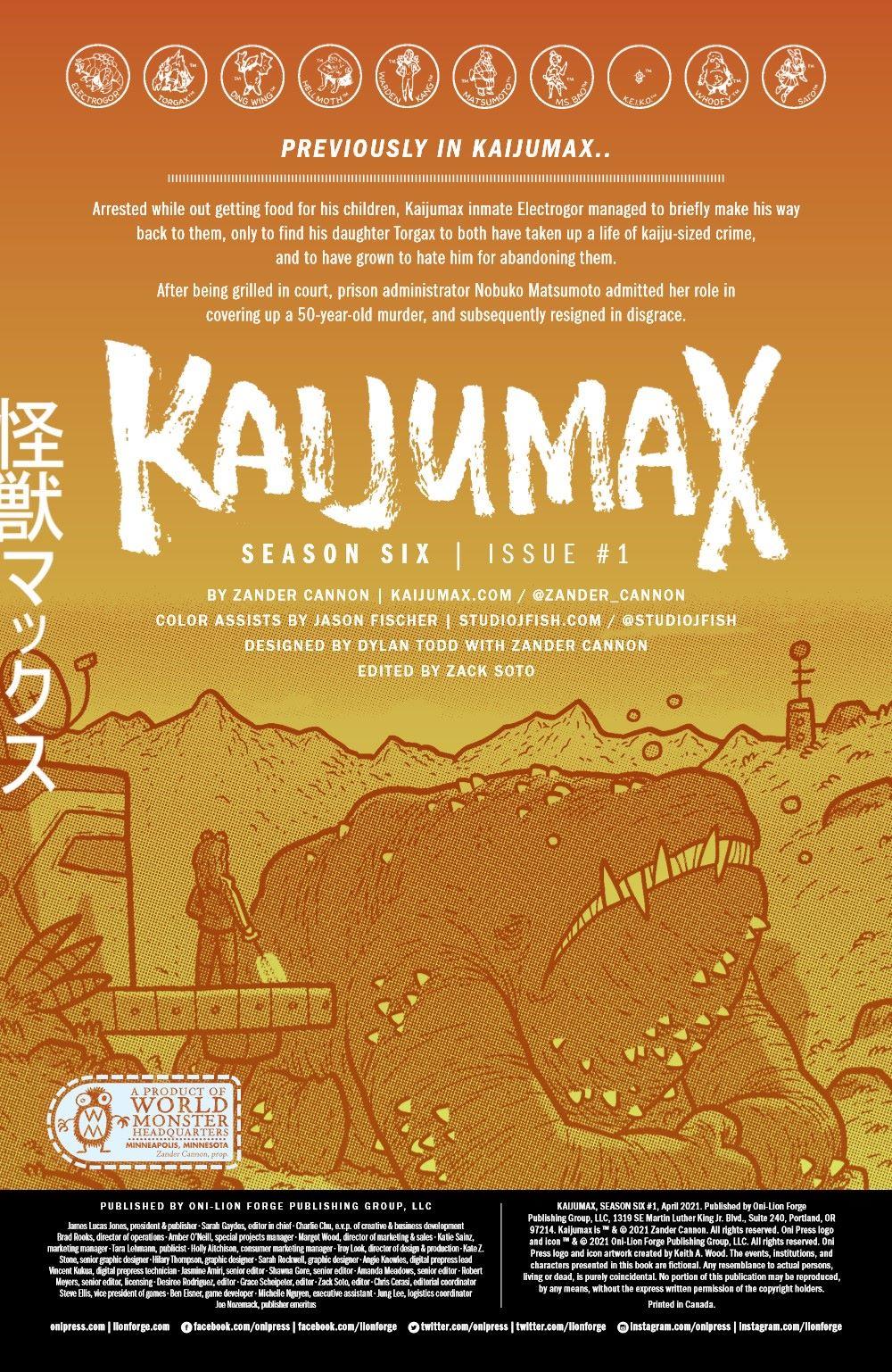 KAIJUMAXV6-1-MARKETING-02 ComicList Previews: KAIJUMAX SEASON SIX #1