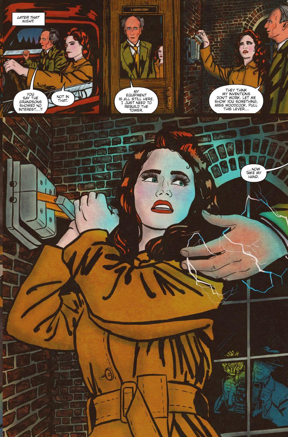 Minky-Interiors-Page_5 ComicList Previews: MINKY WOODCOCK THE GIRL WHO ELECTRIFIED TESLA #1