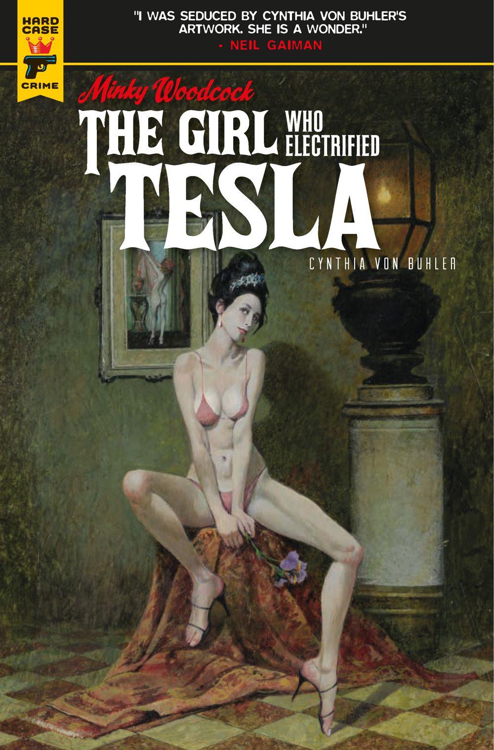 Minky-Woodcock-Cover-A-Robert-McGinnis ComicList Previews: MINKY WOODCOCK THE GIRL WHO ELECTRIFIED TESLA #1