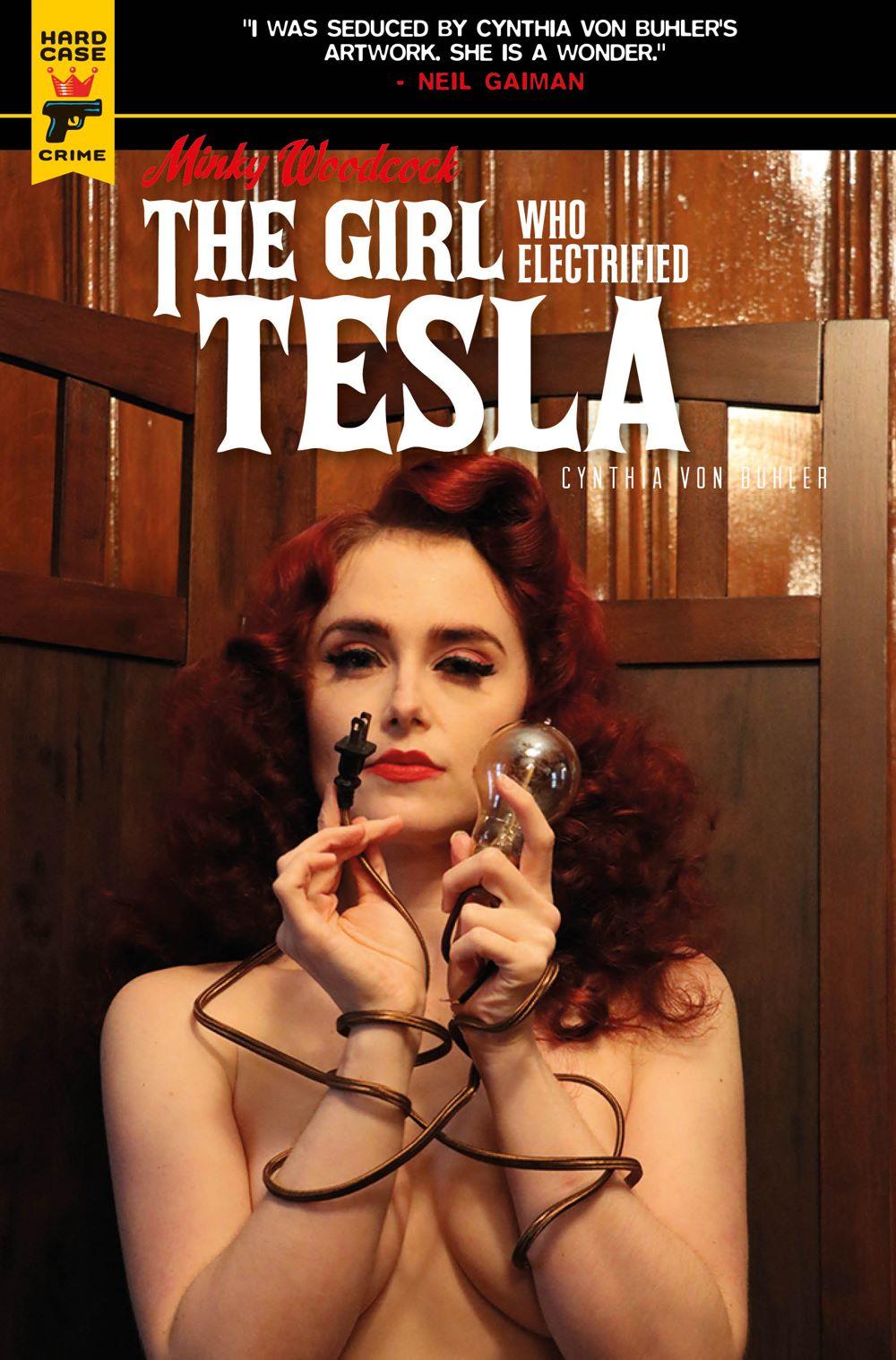 Minky-Woodcock-Cover-C-Photo ComicList Previews: MINKY WOODCOCK THE GIRL WHO ELECTRIFIED TESLA #1